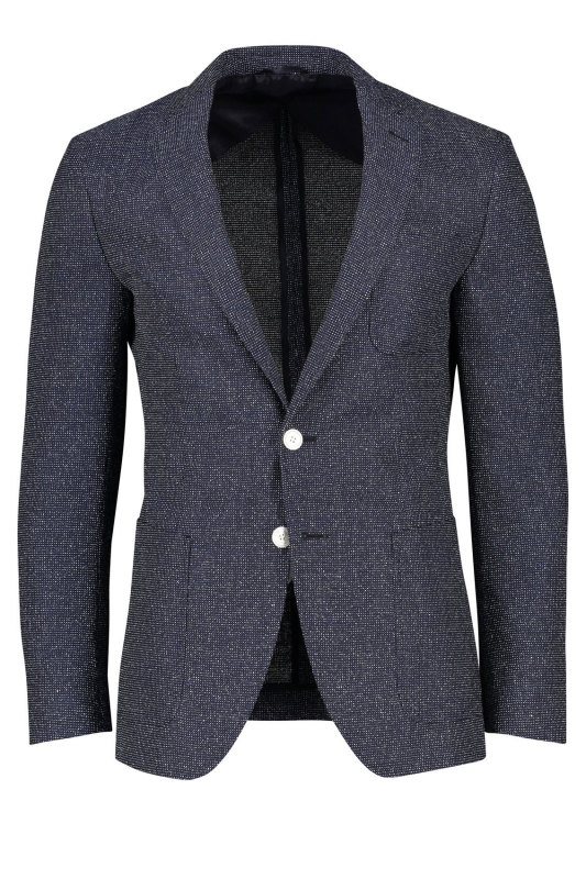 Hugo Boss colbert extra slim fit structuur navy