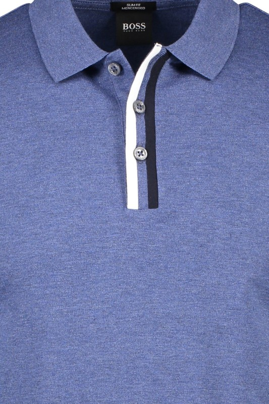 Hugo Boss poloshirt Phillipson blauw slim fit