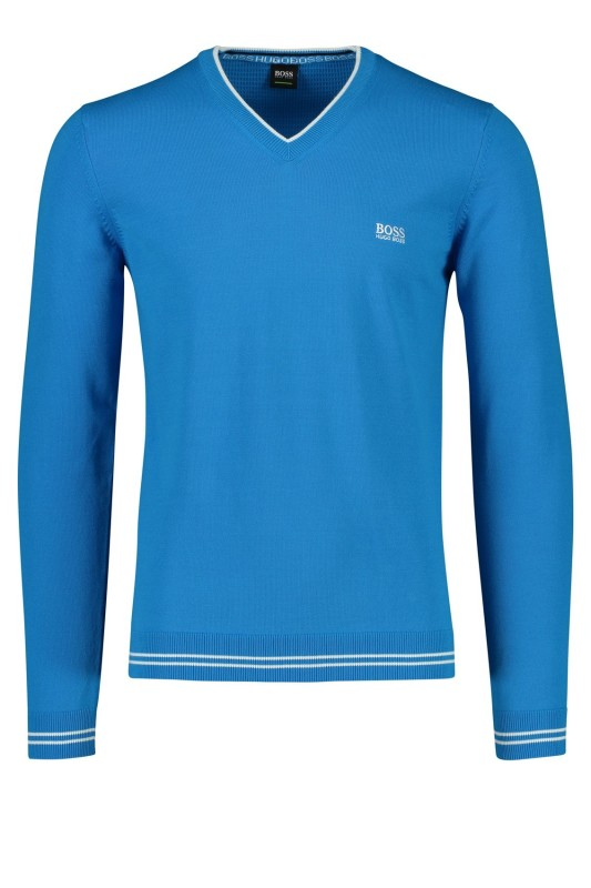 Hugo Boss v-hals trui blauw blauw Big & Tall