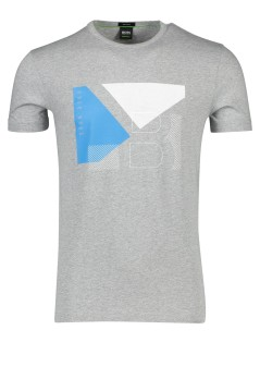 Hugo Boss Big & Tall t-shirt grijs ronde hals