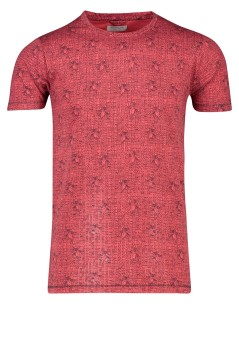 T-shirt Dstrezzed ronde hals rood dessin