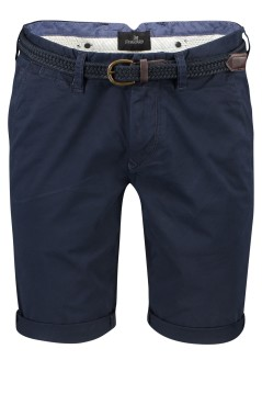 Vanguard slim fit chino shorts donkerblauw riem