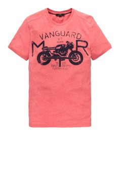 Vanguard t-shirt rood moterprint