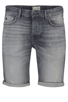 Cast Iron denim shorts faded grijs 5-pocket
