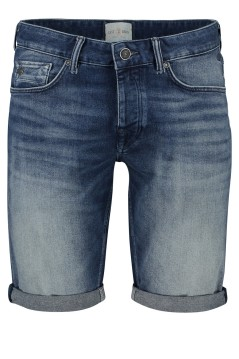 Cast Iron shorts denim faded blauw 5-pocket
