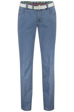 Meyer Diego pantalon blauw 5-pocket riem