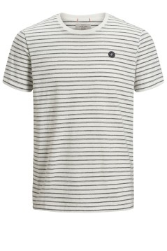 Jack & Jones Plus Size t-shirt ronde hals wit