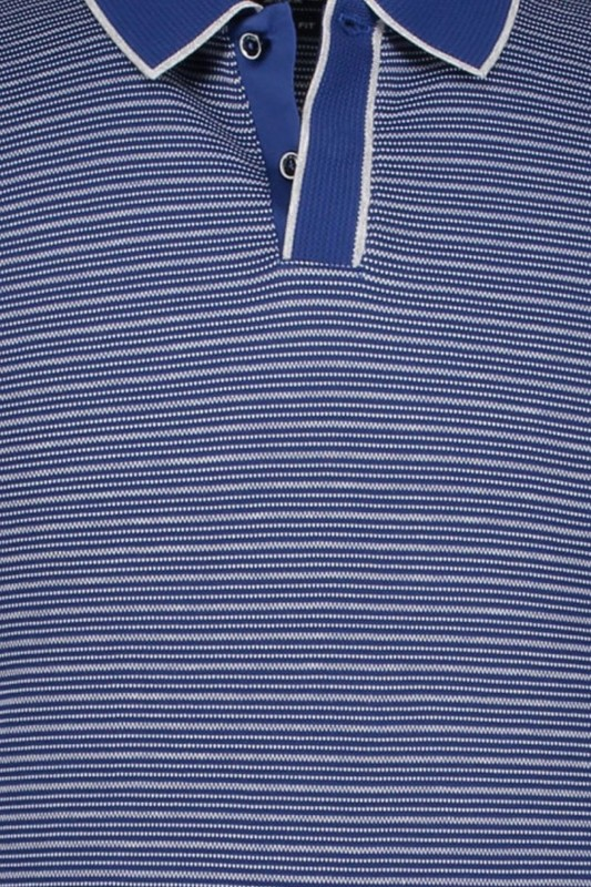 State of Art polo navy gestreept