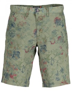 State of Art shorts groen print