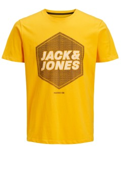 Jack & Jones Plus Size t-shirt ronde hals geel