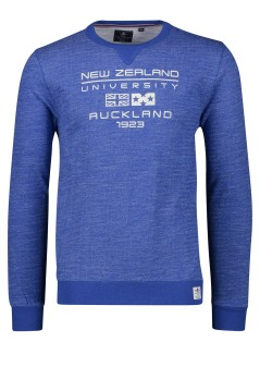 New Zealand sweater Hawdon blauw ronde hals