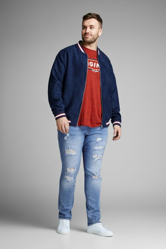 Jack & Jones Plus Size spijkerbroek 5-pocket blauw