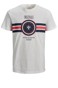 Jack & Jones Plus Size t-shirt wit ronde hals