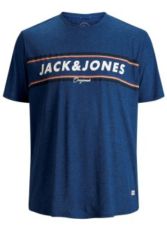T-shirt Jack & Jones Plus Size blauw ronde hals