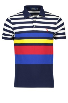Ralph Lauren polo slim fit gestreept navy katoen
