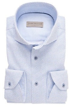 John Miller shirt lichtblauw sleeve 7 Tailored Fit