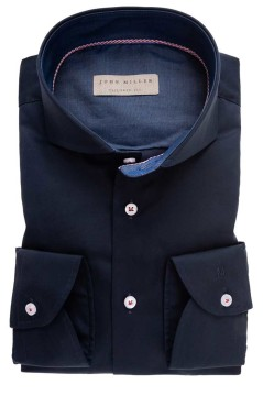 John Miller hemd donkerblauw Tailored Fit