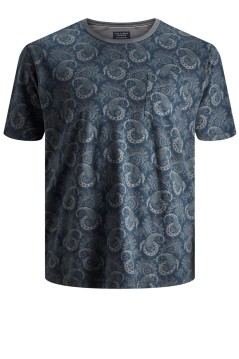 Jack & Jones Plus Size t-shirt indigo print o-hals