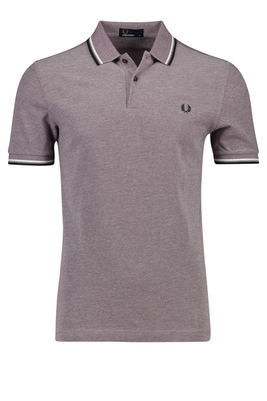 Fred Perry poloshirt katoen structuur rood
