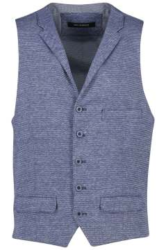 Roy Robson gilet blauw wit geprint