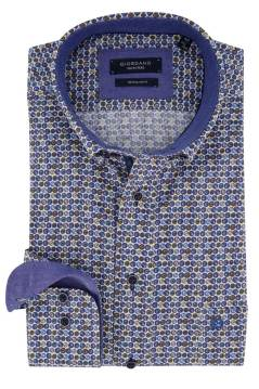 Giordano shirt Regular Fit blauw geprint