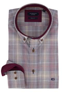 Giordano shirt bordeaux geruit Regular Fit