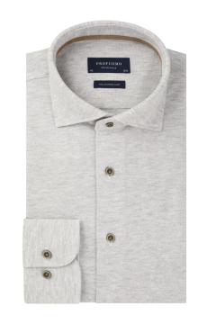 Profuomo the knitted shirt grijs