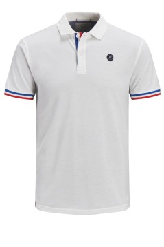 Jack & Jones Plus Size polo wit korte mouw