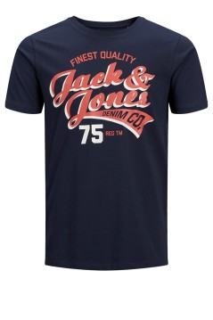 T-shirt Jack & Jones Plus Size navy ronde hals