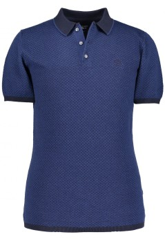 State of Art polo donkerblauw structuur