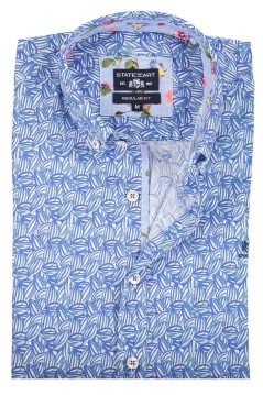 State of Art shirt blauw all over print