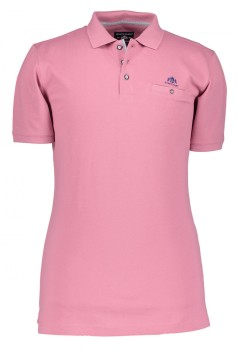 State of Art polo roze met paspelzakje