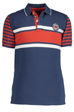 State of Art polo navy rood print