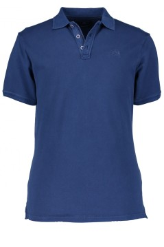 State of Art polo donkerblauw effen met logo