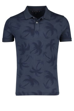 Tommy Hilfiger polo donkerblauw palmprint