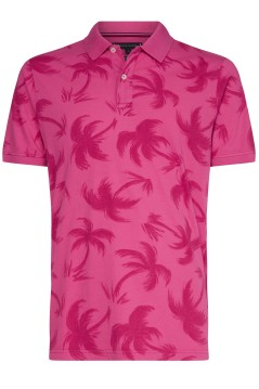 Tommy Hilfiger polo roze met palmprint