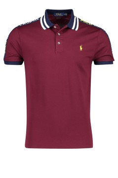 Ralph Lauren polo Custom Slim Fit bordeaux