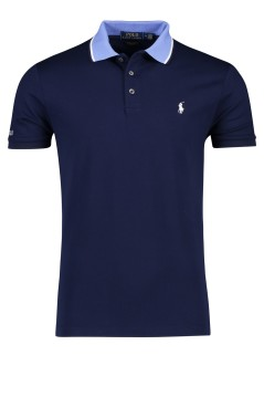 Ralph Lauren polo donkerblauw custom slim fit