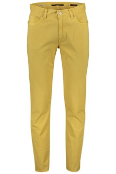 Alberto 5-pocket broek geel Regular Slim Fit