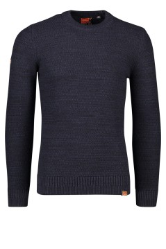 Superdry trui ronde hals donkerblauw