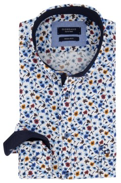 Wit overhemd bloemenprint Giordano Regular Fit