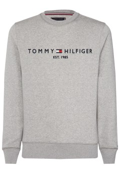 Tommy Hilfiger Big & Tall logo sweater grijs