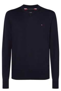 Tommy Hilfiger Big & Tall trui navy v-hals