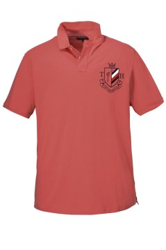 Tommy Hilfiger Big & Tall polo roze met badge