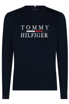 Tommy Hilfiger Big & Tall T-shirt lange mouw navy