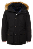 Tommy Hilfiger Big & Tall parka zwart