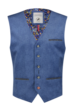 Gilet A Fish Named Fred helder blauw