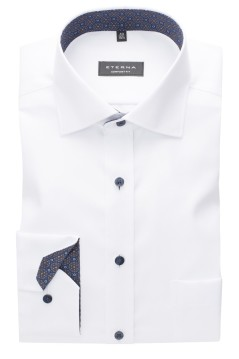 Eterna shirt wit mouwlengte 7 Comfort Fit