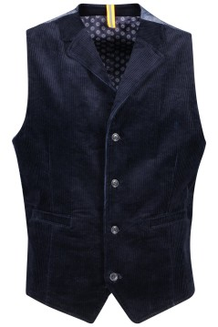 Blue Industry gilet structuur donkerblauw