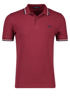 Polo Fred Perry donkerrood